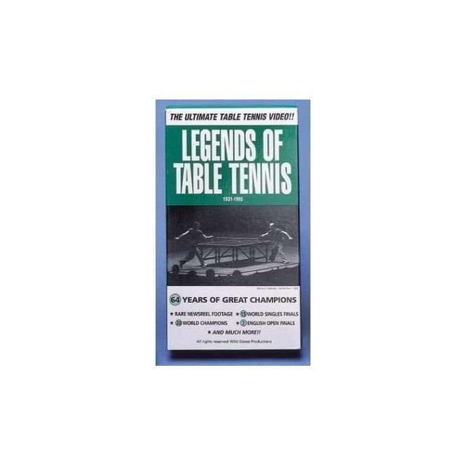 Legends of Table Tennis Video Cassette