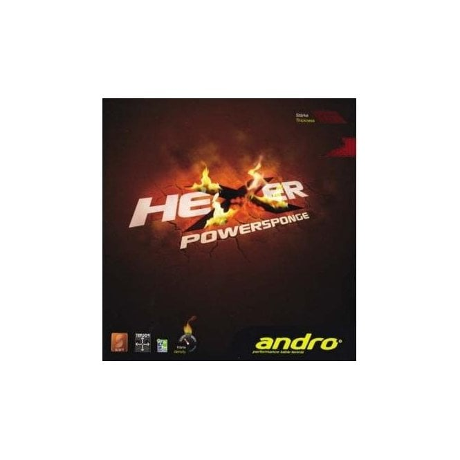 Andro Hexer Powersponge Table Tennis Rubber