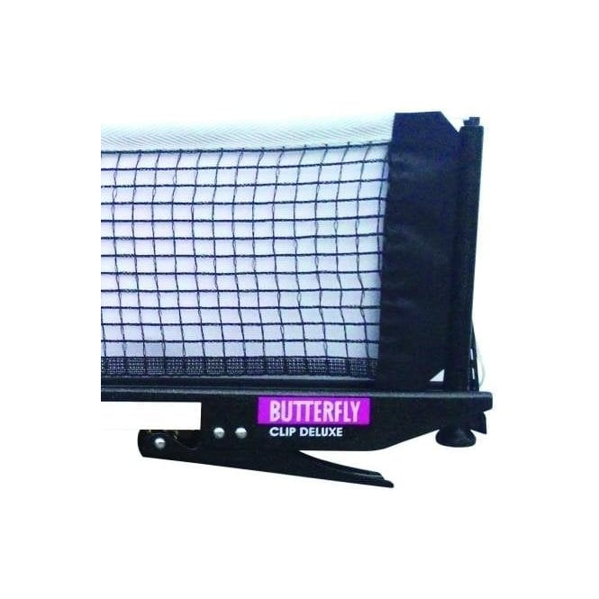 Butterfly Clip Deluxe Table Tennis net and posts