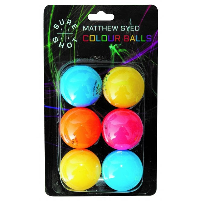Sureshot Matthew Syed Colour Ball - Pack of 6