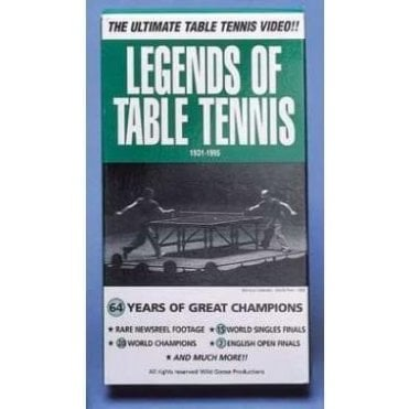 Reflex Sports Legends of Table Tennis Video Cassette