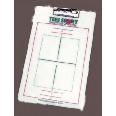 Tees Sport Table Tennis Coaches Clipboard