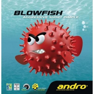 Andro Blowfish short pimple Table Tennis Rubber