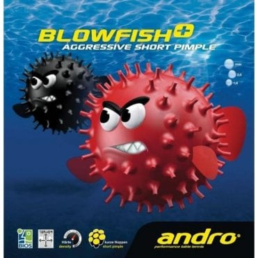 Andro Blowfish+ short pimple Table Tennis Rubber