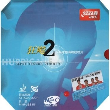 Double Happiness DHS NEO Hurricane 2 Table Tennis Rubber