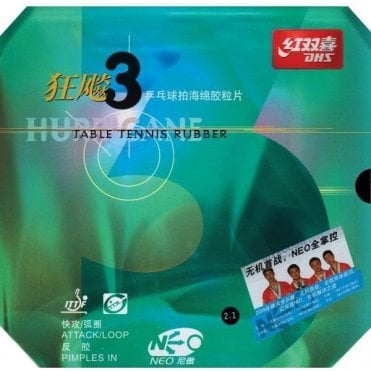 Double Happiness DHS NEO Hurricane 3 Table Tennis Rubber