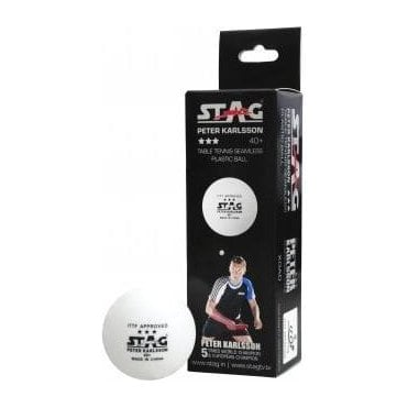 Stag Peter Karlsson Premium 40* 3* Table Tennis Ball - Box of 3