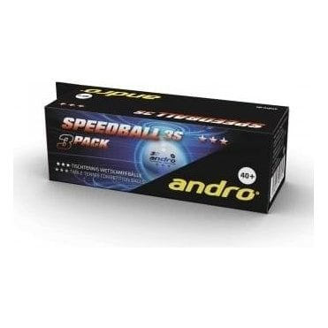 Andro Speedball 3S 40+ 3* Table Tennis Balls - Pack of 3