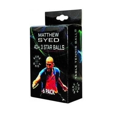 Sureshot Matthew Syed 40+ 3* Table Tennis Ball - Box of 6
