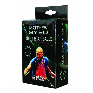 Sureshot Matthew Syed 40+ 1* Table Tennis Ball - Box of 6