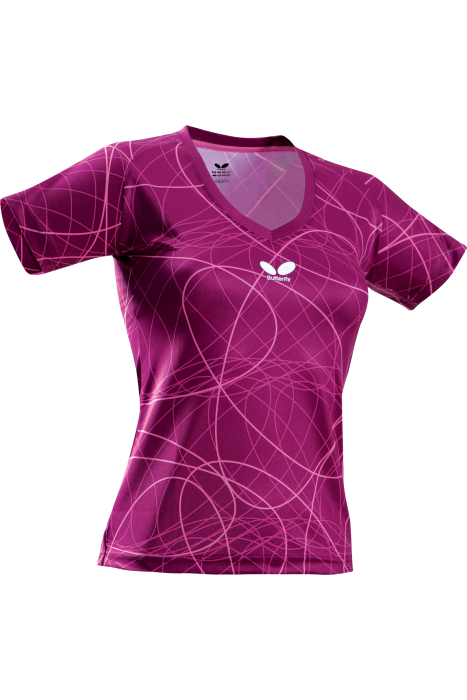 Butterfly sooty ladies table tennis t shirt clothing for Table tennis shirts butterfly