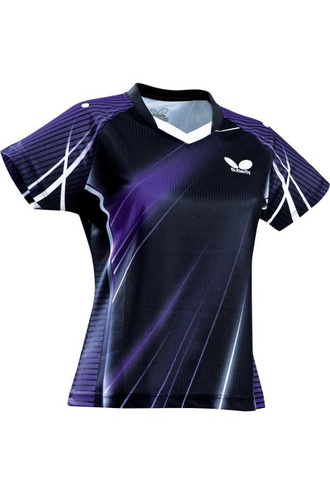 Butterfly streak ladies table tennis shirt clothing for Table tennis shirts butterfly