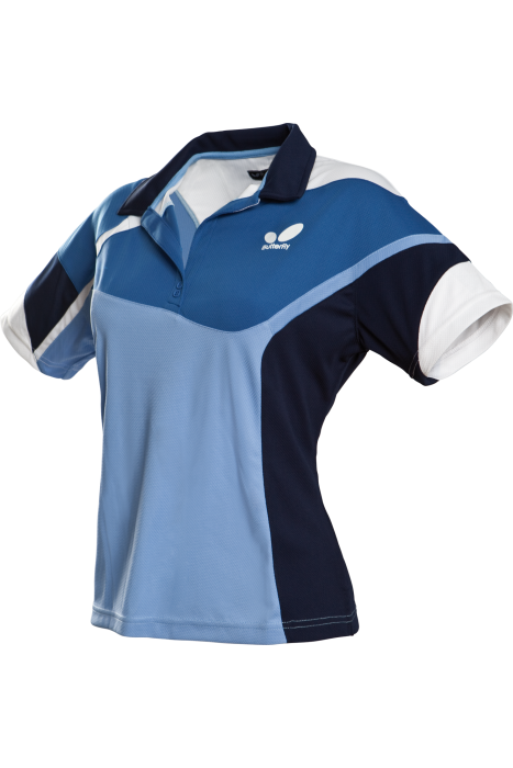 Butterfly fior ladies table tennis shirt clothing for Table tennis shirts butterfly