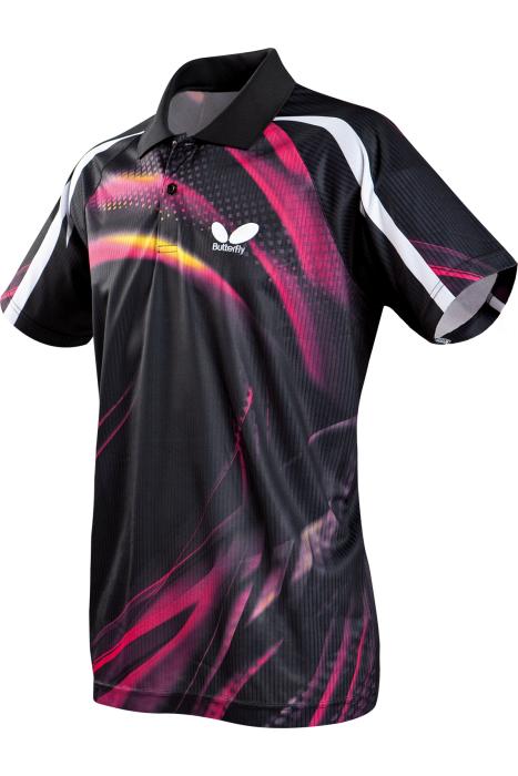 Butterfly azani table tennis shirt clothing towels for Table tennis shirts butterfly