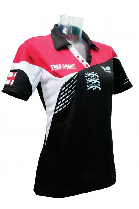 Butterfly england 39 14 ladies 39 table tennis shirt for Table tennis shirts butterfly