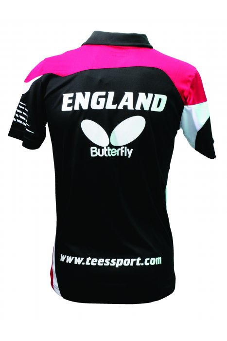 Butterfly england men 39 s table tennis shirt clothing for Table tennis shirts butterfly