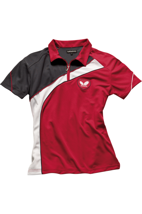 Butterfly kano ladies table tennis shirt clothing for Table tennis shirts butterfly