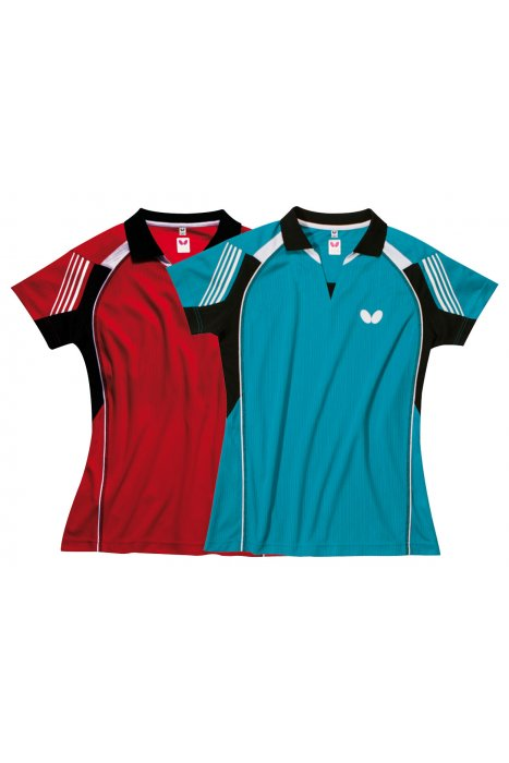 Butterfly nash ladies table tennis shirt clothing for Table tennis shirts butterfly