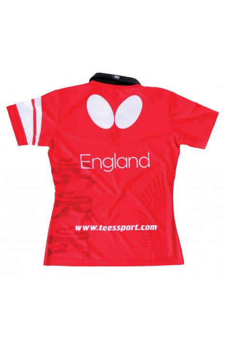 Butterfly england 39 16 ladies table tennis shirt clothing for Table tennis shirts butterfly